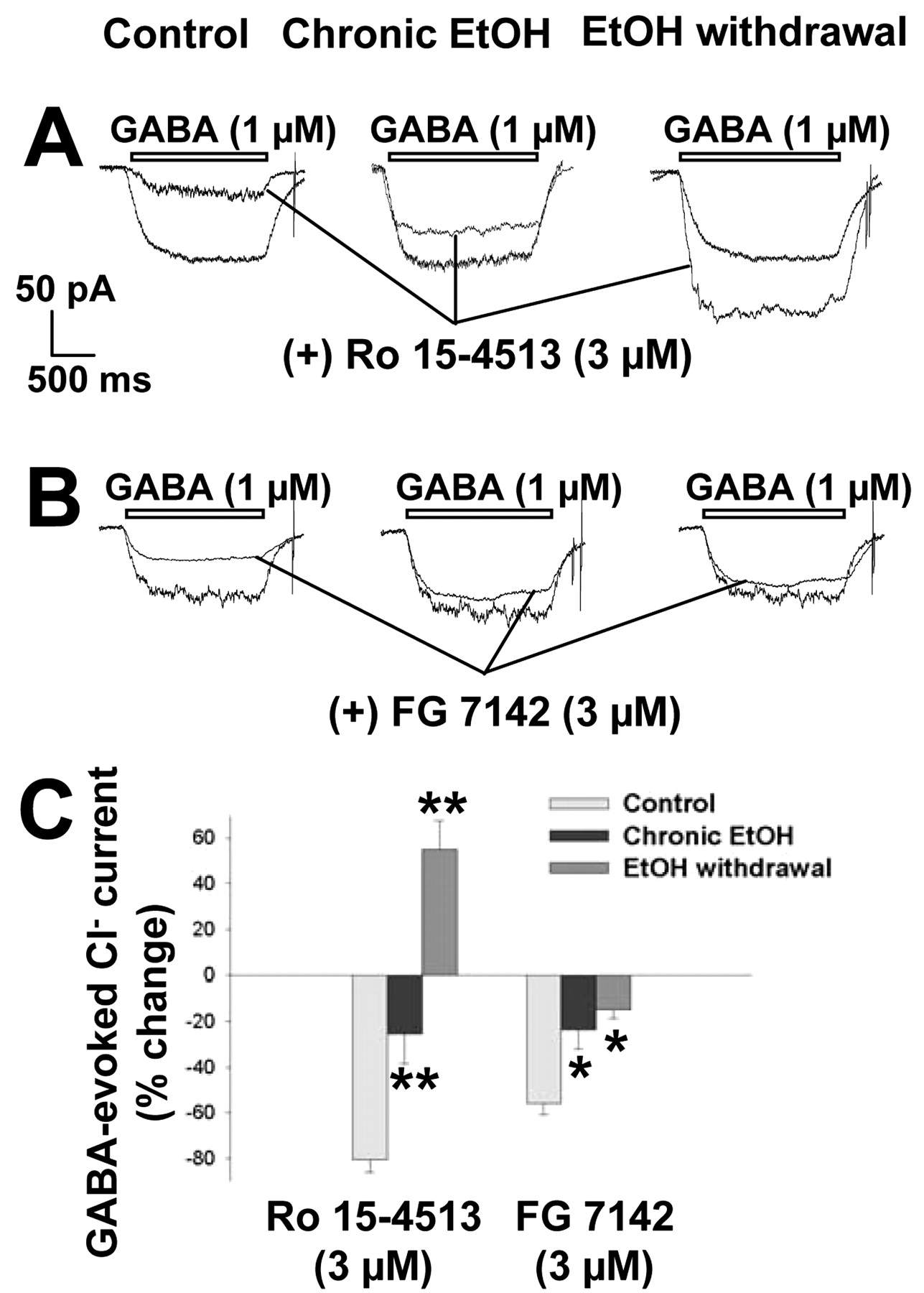 Changes in GABAA Receptor Gene Expression Associated with Selective