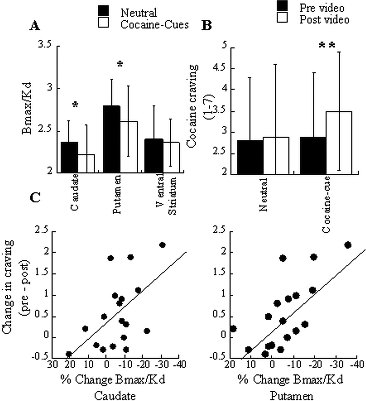 Cocaine Cues and Dopamine in Dorsal Striatum: Mechanism of Craving