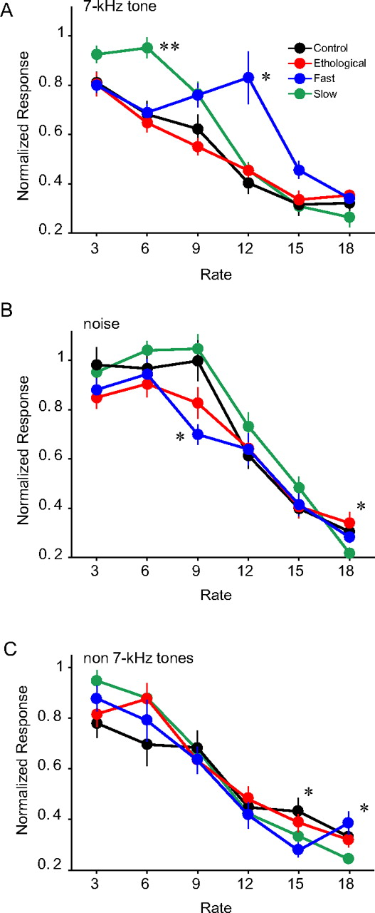 Selective Increase in Representations of Sounds Repeated at an