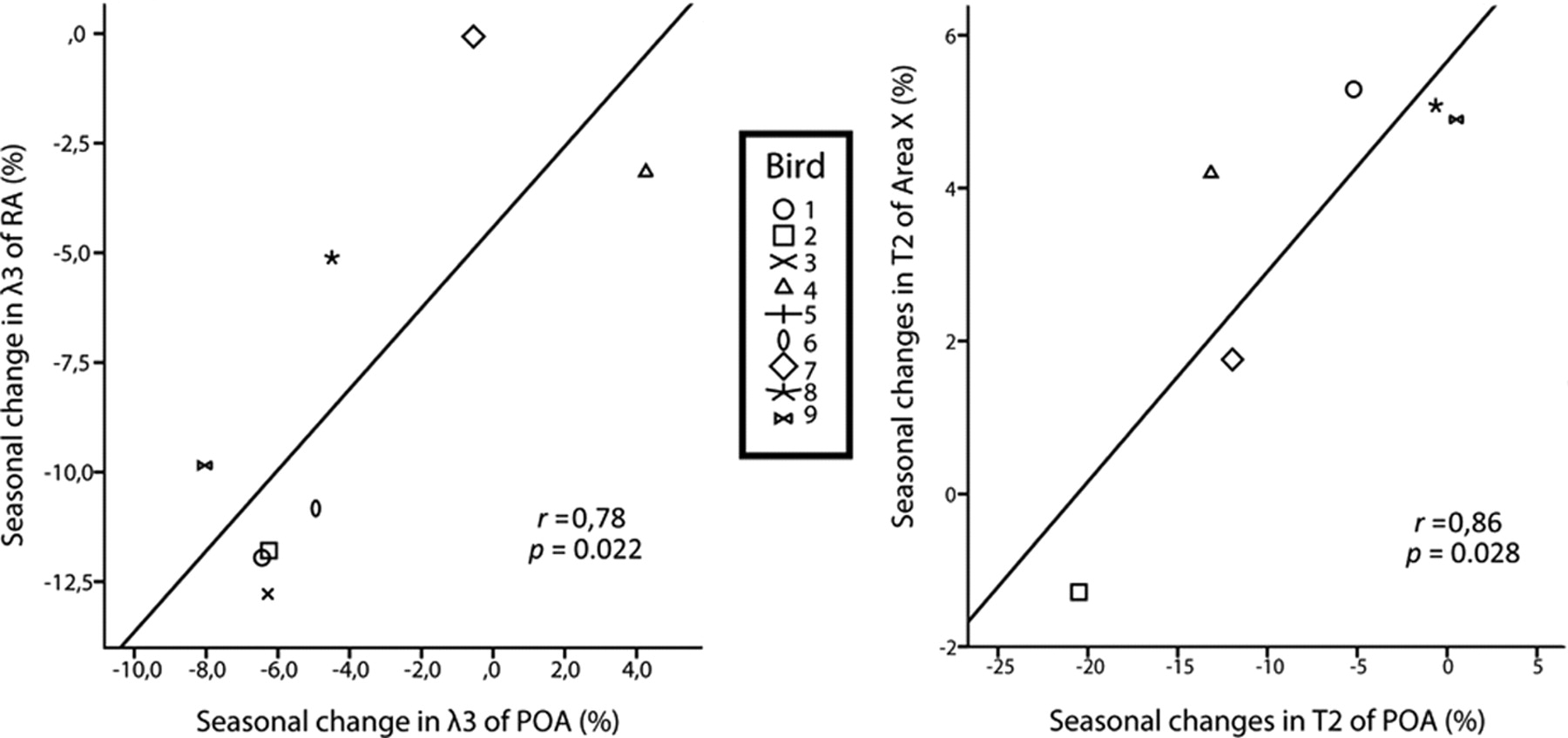 Structural Changes between Seasons in the Songbird Auditory