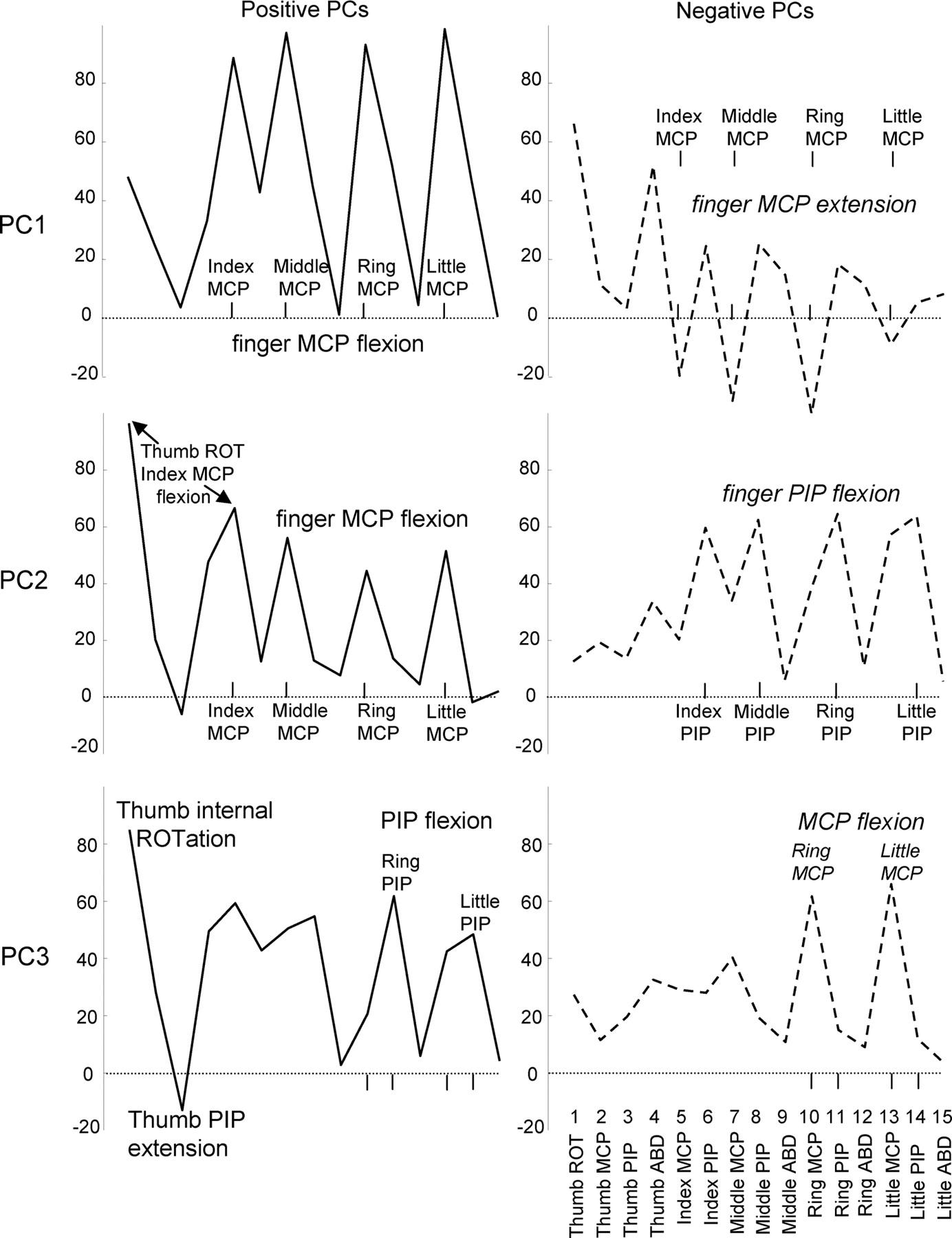 Coordination of Hand Shape   Journal of Neuroscience