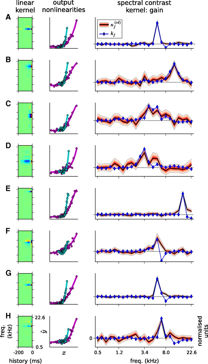 Spectrotemporal Contrast Kernels for Neurons in Primary