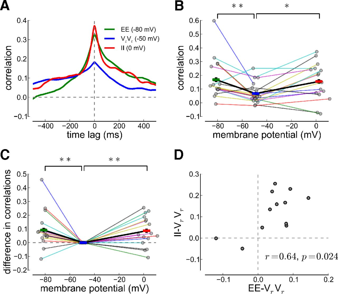 Synaptic Input Correlations Leading to Membrane Potential