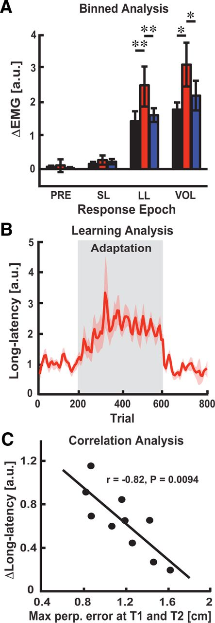 Rapid Feedback Responses Correlate with Reach Adaptation and