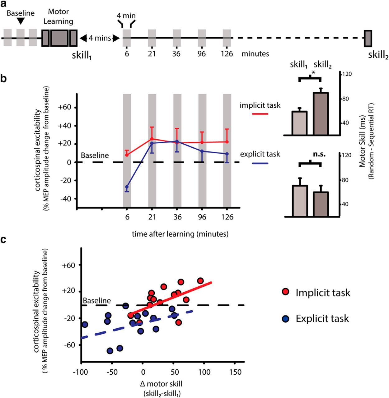 A Physiological Signal That Prevents Motor Skill Improvements during