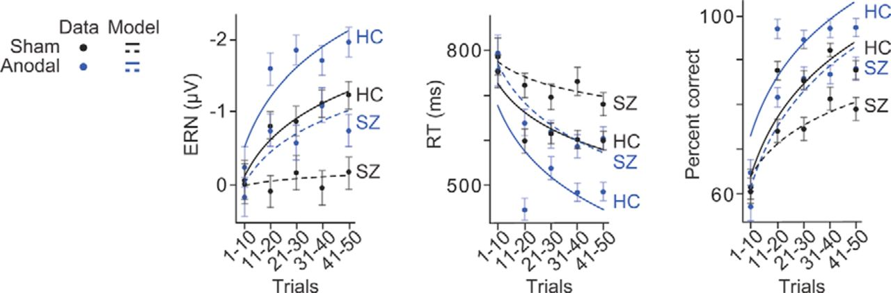 Medial–Frontal Stimulation Enhances Learning in Schizophrenia by