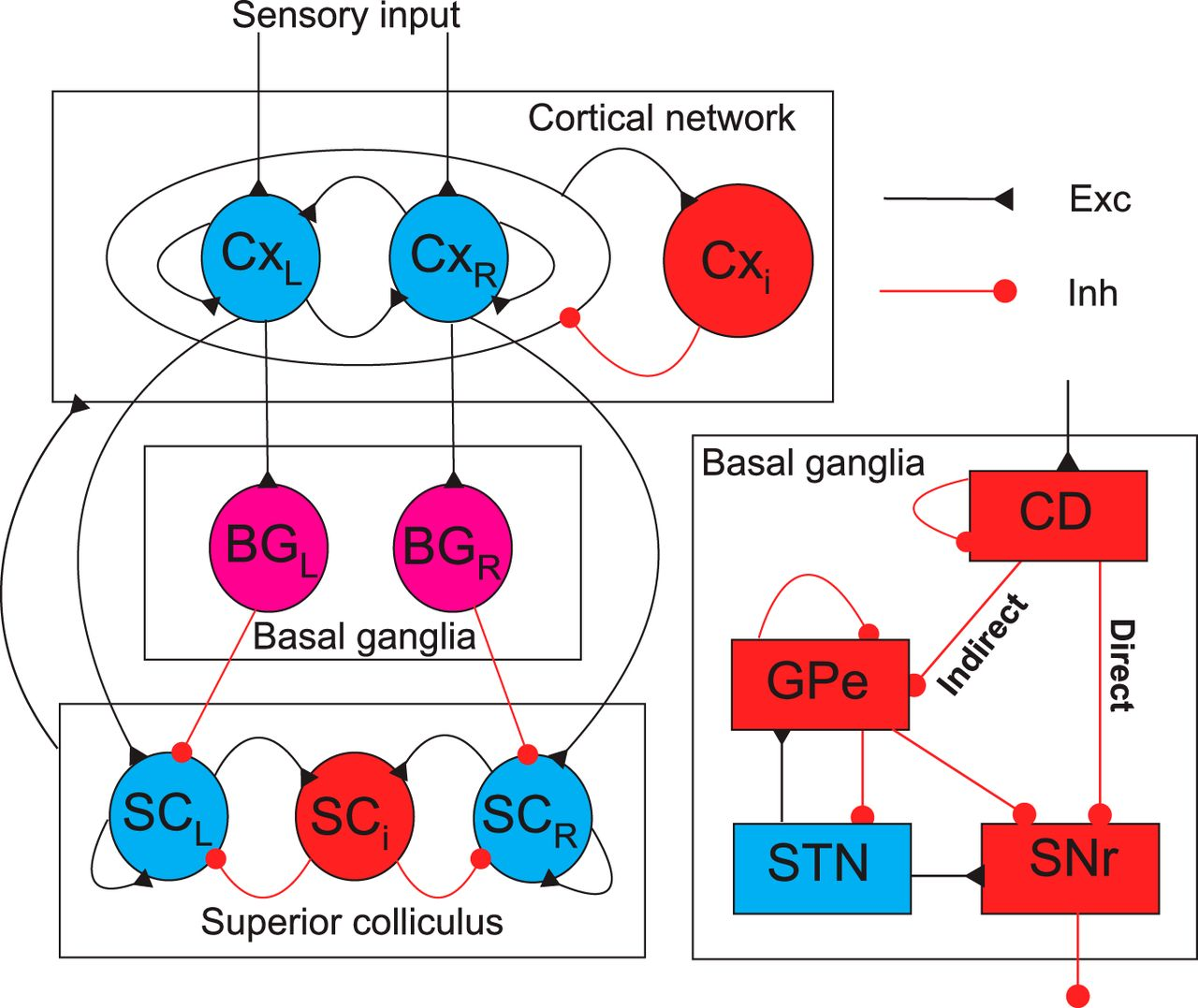 Role Of The Indirect Pathway Basal Ganglia In Perceptual Clark Gcx 25e Wiring Diagram Download Figure