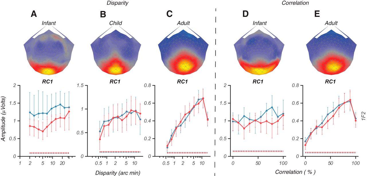 development of relative disparity sensitivity in human visual