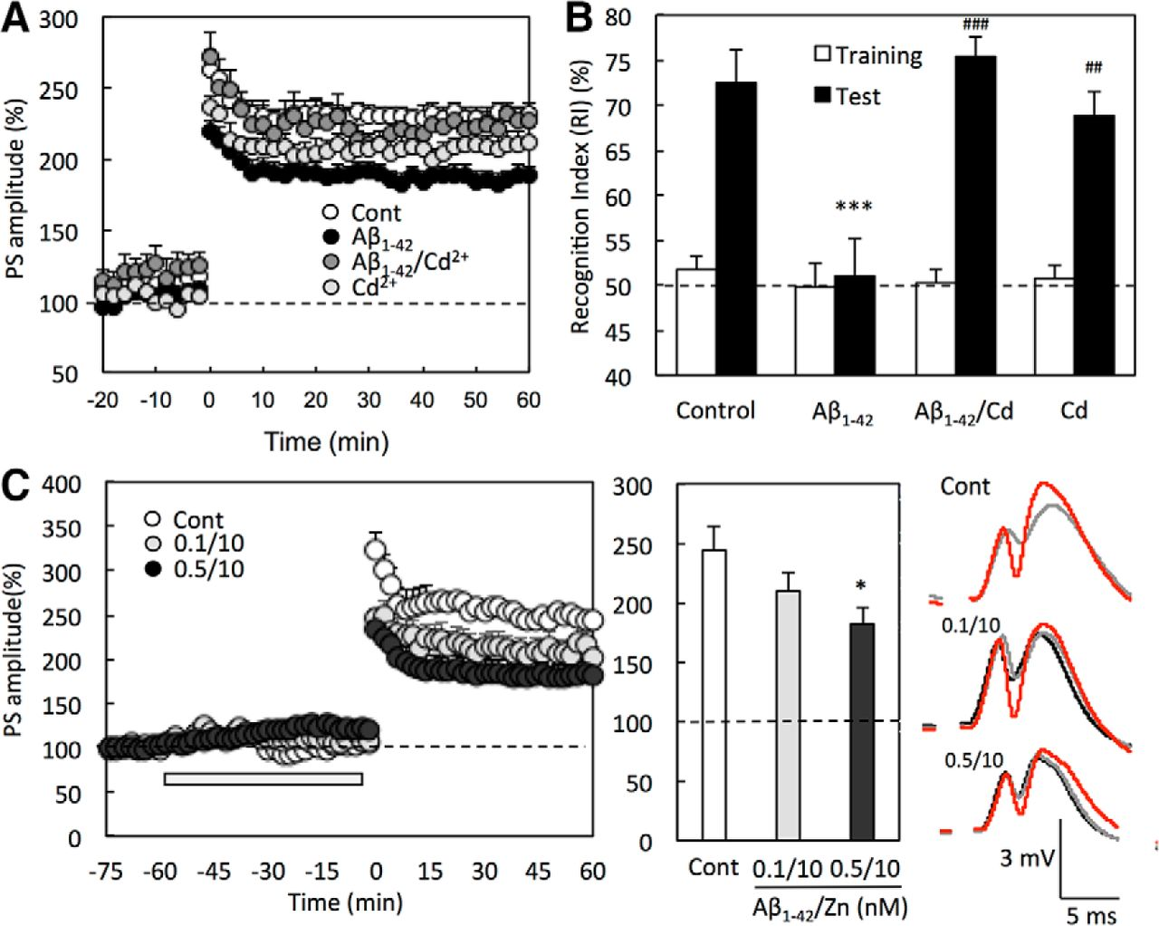 Figure 6  | Extracellular Zn2+ Is Essential for Amyloid β1