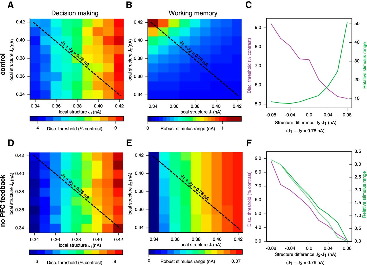 Working Memory And Decision Making In A Frontoparietal Circuit Model Determines The State Of By Comparing Download Figure