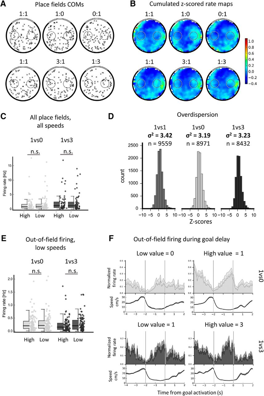 Insensitivity of Place Cells to the Value of Spatial Goals