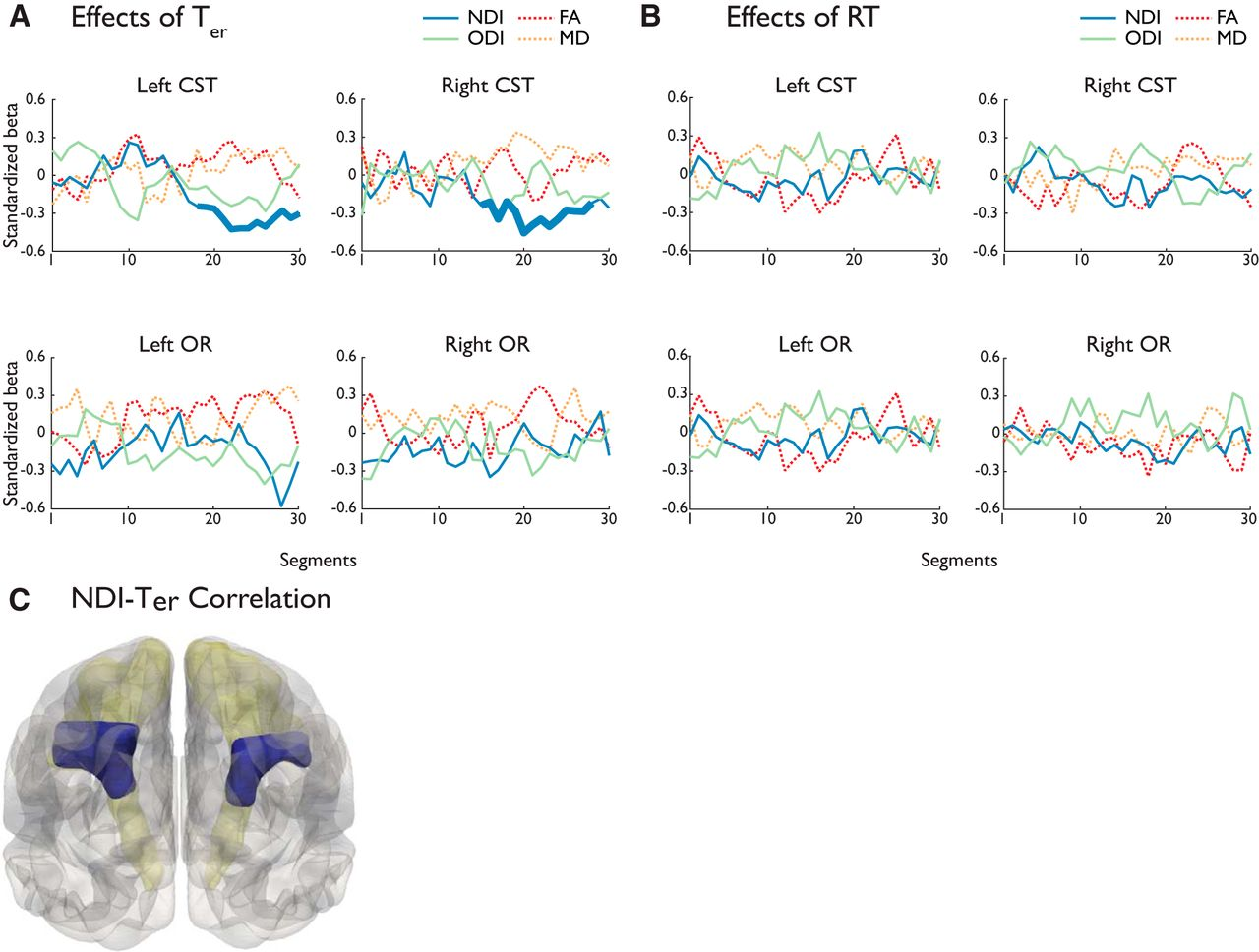 Cognitive and White-Matter Compartment Models Reveal