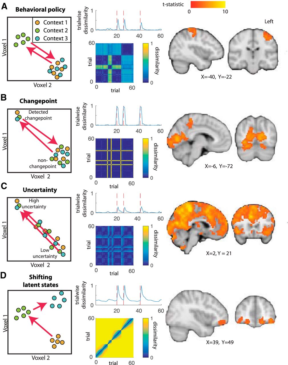 Dissociable Forms of Uncertainty-Driven Representational