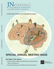 The Journal of Neuroscience: 35 (41)